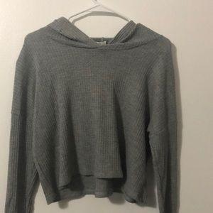 Gray long sleeve w/ hood